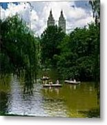 Rowboats Central Park New York Metal Print