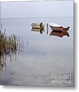 Rowboats On Nonnensee Metal Print
