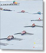 Rowers Arc-natural Metal Print
