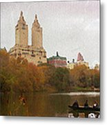 Rowers In Central Park Metal Print
