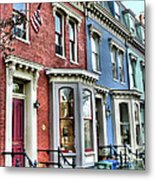 Rowhouses Of Eastern Market Xiv Metal Print