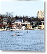 Rowing At Boathouse Row Metal Print