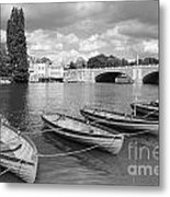 Rowing Boats Metal Print