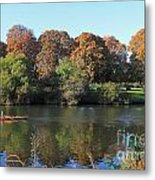 Rowing On The River Thames At Hampton Court London Metal Print