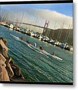 Rowing To The Golden Gate Bridge Metal Print
