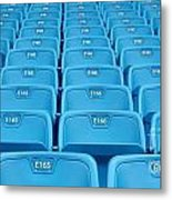 Rows Of Emtpy Seats Metal Print