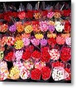 Rows Of Roses Metal Print