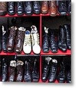 Rows Of Shoes Metal Print