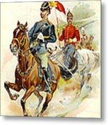 Roxbury Horse Guards 1895 Metal Print