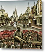 Roy And Minnie Mouse Antique Style Walt Disney World Metal Print