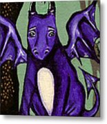 Royal Amethyst Dragon Pup Metal Print