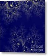 Royal Blue Frost Fractal Metal Print