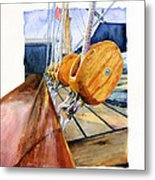 Royal Clipper Ships Tackle Metal Print