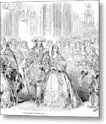 Royal Costume Ball, 1851 Metal Print