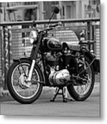Royal Enfield Goes Berlin Metal Print