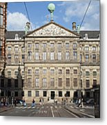 Royal Palace From Raadhuisstraat Street In Amsterdam Metal Print