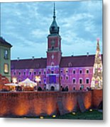 Royal Palace In The Old Town Of Warsaw Metal Print