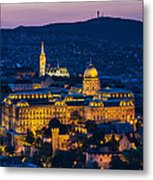 Royal Palace Of Buda In Budapest Metal Print
