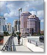 Royal Palm Way Bridge Metal Print