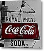 Royal Pharmacy Soda Metal Print by Andy Crawford