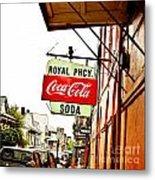 Royal Pharmacy Soda Sign Metal Print