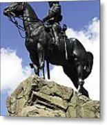 Royal Scots Greys Monument In Edinburgh Metal Print