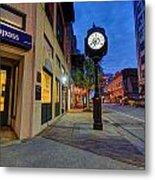 Royal Street Clock Metal Print