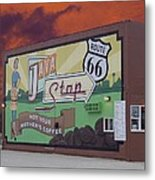 Rt 66 Dwight Il Java Stop Metal Print