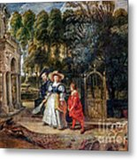 Rubens In His Garden With Helena Fourment Metal Print