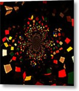 Rubik's Explosion Metal Print by Scott Allison