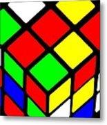 Rubik's Phone Metal Print