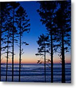 Ruby Beach Sillouette II Metal Print
