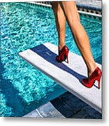 Ruby Heels Ready For Take-off Palm Springs Metal Print