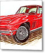 Ruby Red 1966 Corvette Stingray Fastback Metal Print