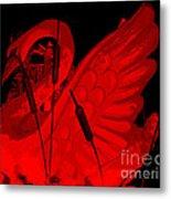 Ruby Red Swan Metal Print