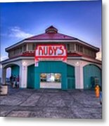 Ruby's Diner On The Pier Metal Print