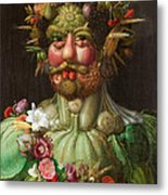 Rudolf II Of Habsburg As Vertumnus Metal Print