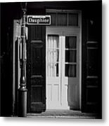 Rue Dauphine French Quarter New Orleans-monochrome Metal Print