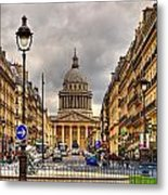 Rue Sufflot In Paris Metal Print