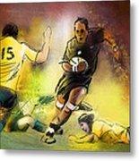 Rugby 01 Metal Print