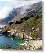 Rugged California Seashore Metal Print