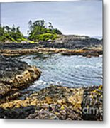 Rugged Coast Of Pacific Ocean On Vancouver Island Metal Print