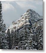 Rugged Mountain Peak With Snow Metal Print