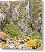 Rugged Mountain Wilderness Vegetation Metal Print