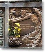 Ruggeri Roncoroni Guzzi Grave Marker Monumental Cemetery Milan Metal Print