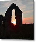 Ruin Of A Hunting Lodge Near Lough Easkey In County Sligo Ireland Metal Print