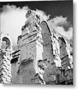Ruined Area Of The Old Roman Colloseum At El Jem Tunisia Metal Print