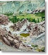 Ruins At Basgo Monastery Ladakh India Metal Print