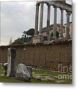 Ruins In The Roman Forum Rome Italy Metal Print