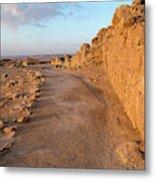 Ruins Of A Fort, Masada, Israel Metal Print